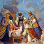 Magi with gifts nativity