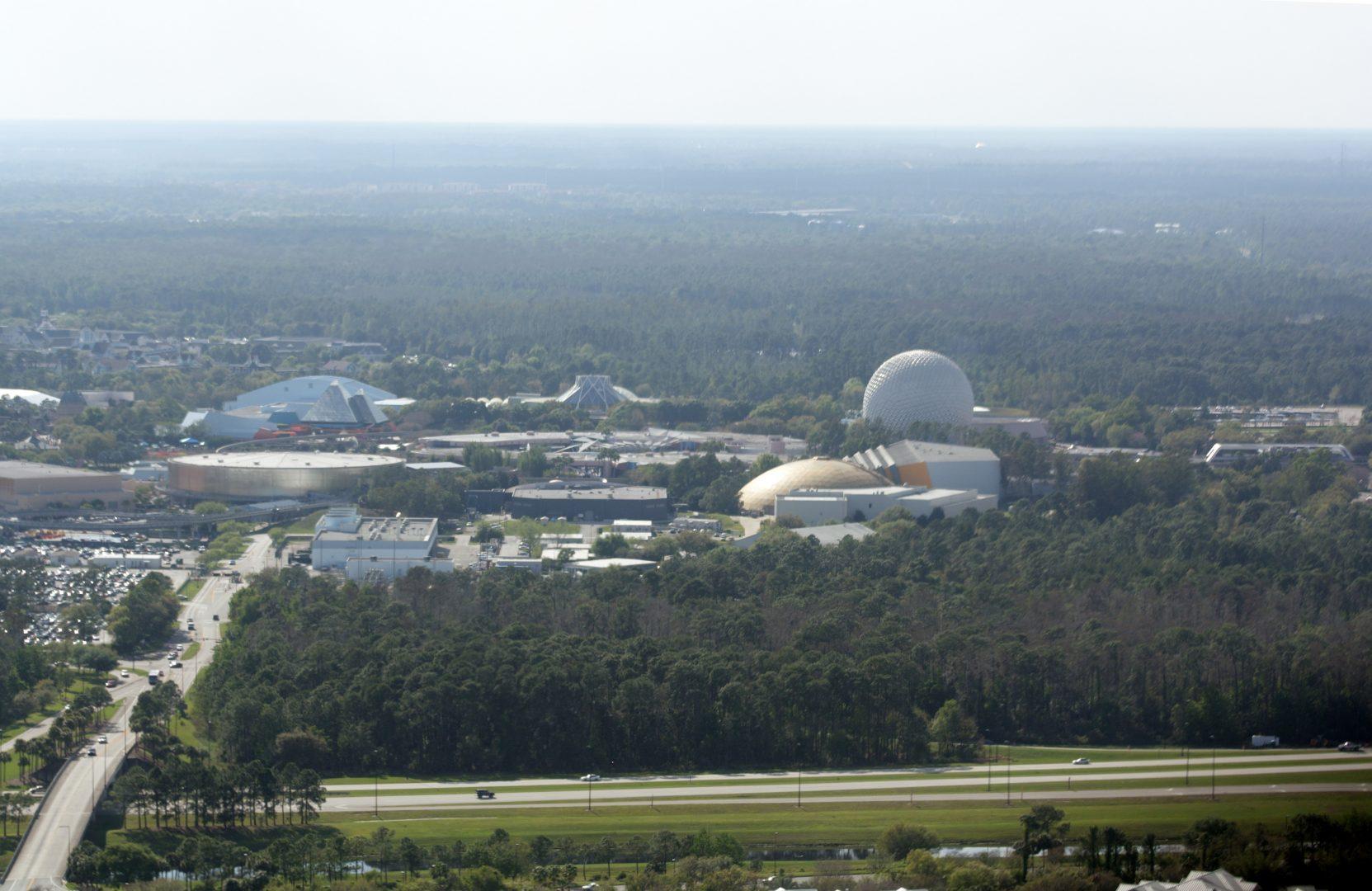 aerial view of EPCOT center FL